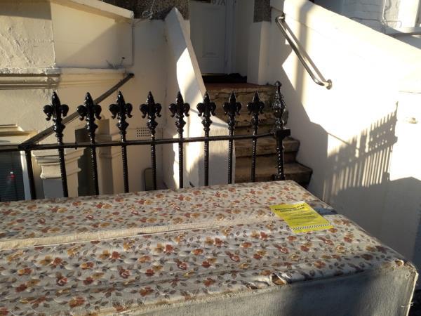 2x mattress  base -63b Chesterton Road, Plaistow, E13 8BD