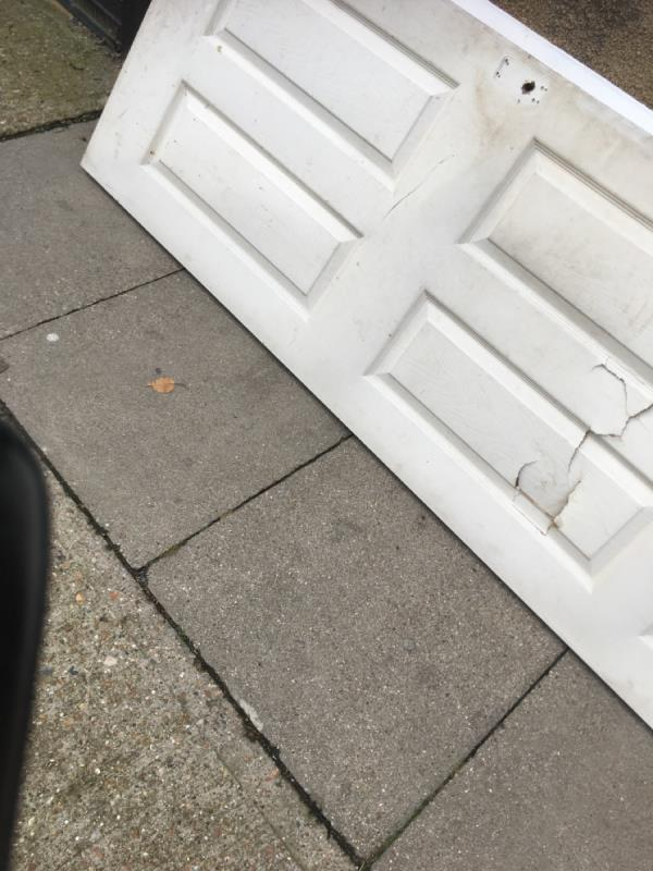 Rubbish dumped and doors are blocking the pavement -1 Amity Road, London, E15 3QJ