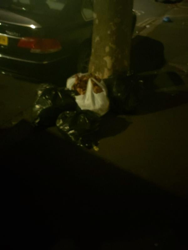 dumped bags-34 Mitcham Road, East Ham, E6 3LU