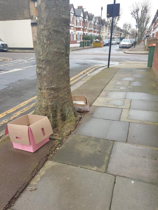 Large items litter all down street -86 Mitcham Road, East Ham, E6 3NF