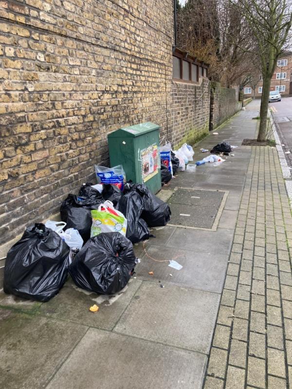 Huge amounts of dumped household rubbish -19 Malvern Road, Tottenham, N17 9HH