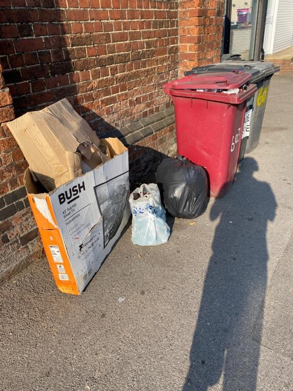 Stuff next to bin-608 Oxford Road, Reading, RG30 1EG