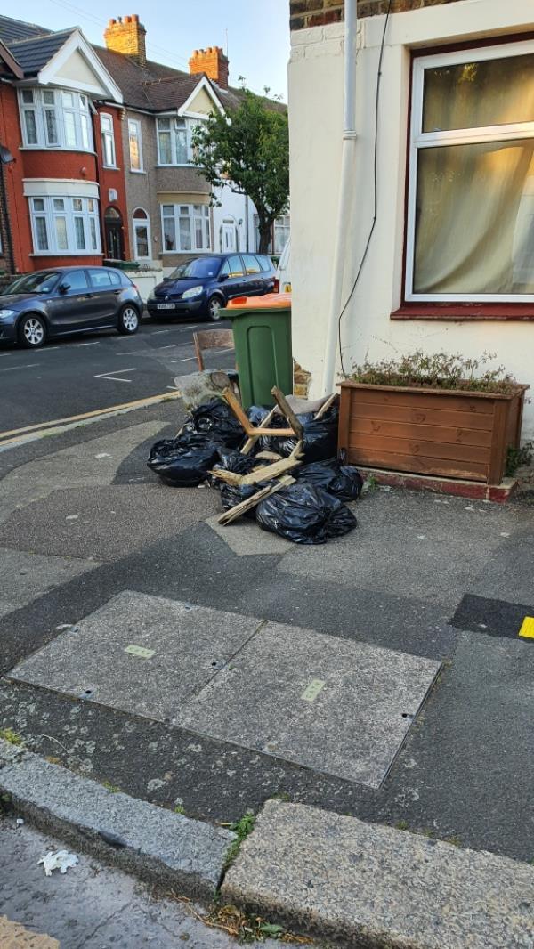 bags, furniture. CORNER OF GLASGOW ROAD-41a North Street, London, E13 9HW