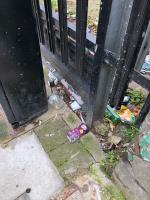 Bottles, food packaging, rubbish, drug parafinalia etc    image 1-91 Barretts Grove, London, N16 8AJ