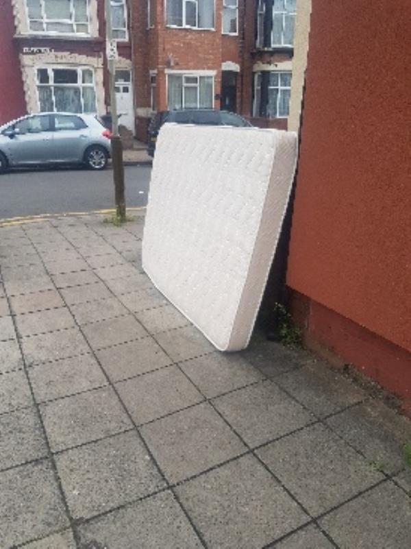mattress left on street corner -21 Melbourne Street, Leicester, LE2 0AS