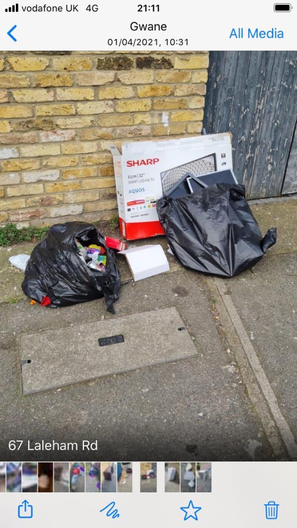 Bags box-67 Laleham Road, London, SE6 2HU