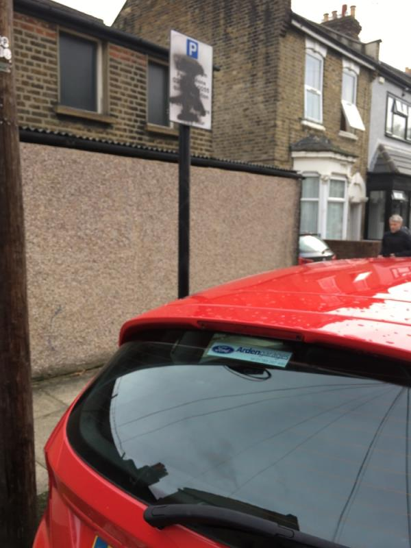 Road sign needs urgent change! Someone had painted over the sign  image 1-147 Caistor Park Road, London, E15 3PR