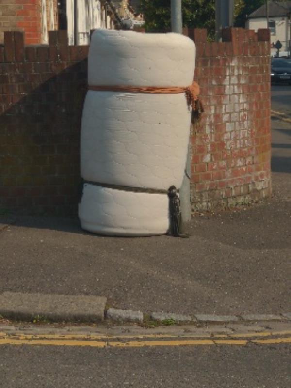dumped on street-36 Cholmeley Road, Reading, RG1 3NQ