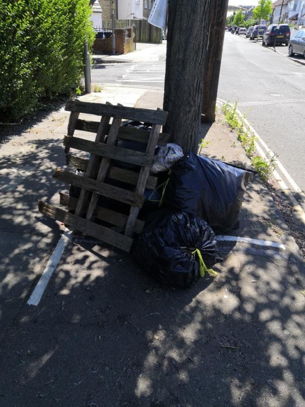 Pallet and back of rubbish (might be domestic) -5 The Crescent, London, W3 7PB