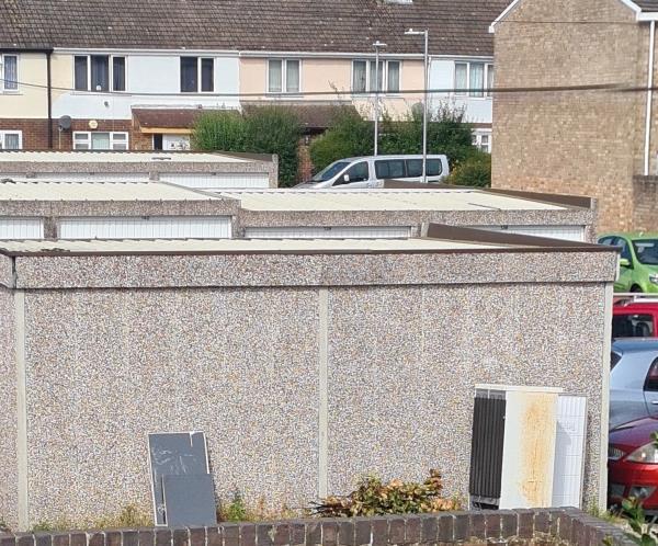 Fridge left on the back of my house-269 Wensley Road, Reading, RG1 6EE