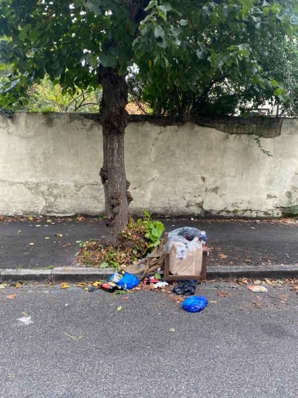 Rubbish left on street-61 Eleanor Rd, London E15 4AB, UK