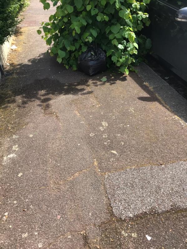 Black bag -160 Rosebery Avenue, London, E12 6PS
