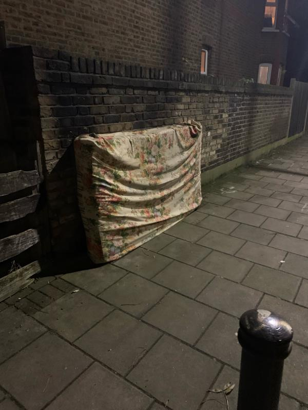 Yet more fly tipping in exactly the same place as always. -110 Harold Road, London, E13 0SF