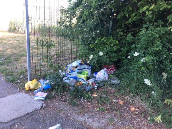 Rubbish accumulating over two weeks  -Three Mills Island Site Three Mill Lane, London, E3 3DU