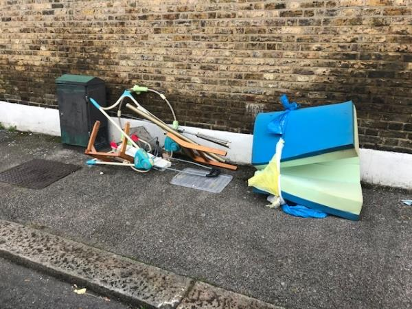 Cudham Street Please clear flytip-34 Honley Road, London, SE6 2JB