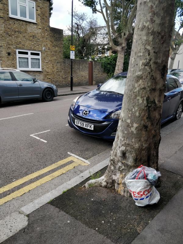 Rubbish bags-59 Haldane Road, London, E6 3JH