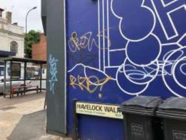 Havelock Walk Remove Graffiti from wall-16 London Road, London, SE23 3JA