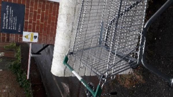 abandoned shopping morrisons trolley cambridge rd near no 8-2-8 Cambridge Road, Aldershot, GU11 3JZ