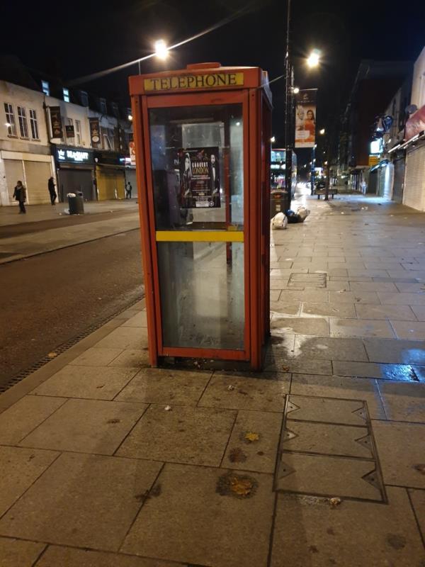 on phone box-116 The Broadway, Southall UB1 1LW, UK