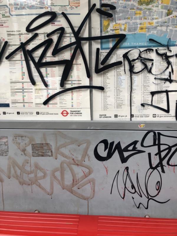 Graffiti -21 New Change Passage, Saint Paul's, EC4M 9AH