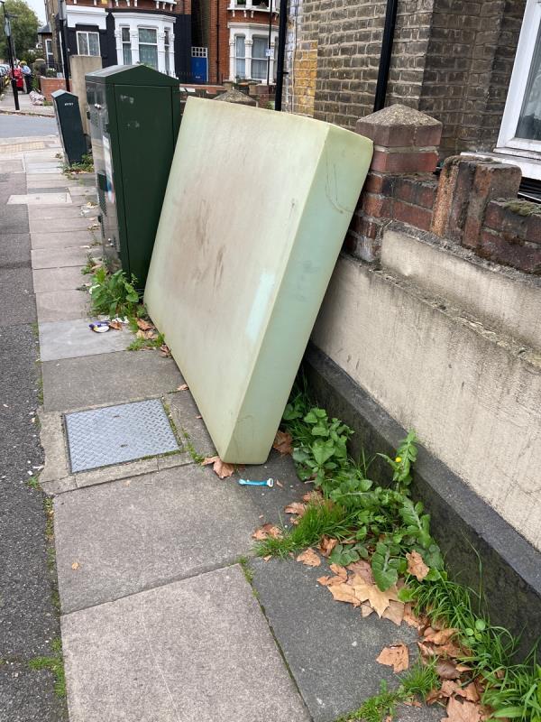 Fly tipping - Fly-tipping Removal dumped foam mattress-55A Clova Rd, London E7 9AQ, UK