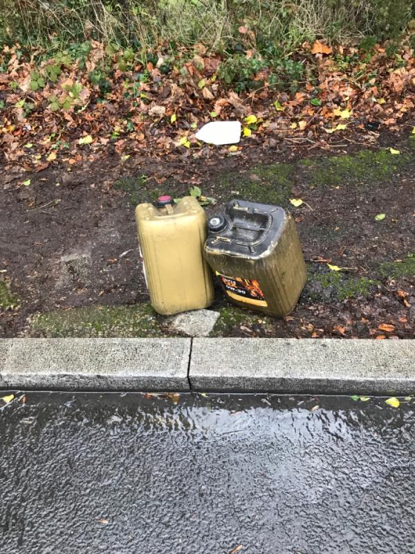 2 oil drums full of oil-27 Sydenham Rise, London, SE23 3XL