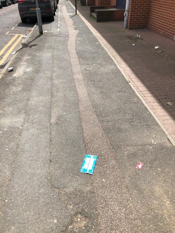 Litter building up on Burford Road-3-4 Burford Road, London, E15 2SP