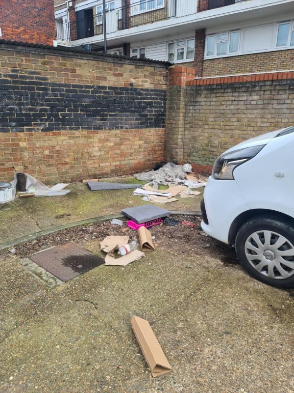 Behind the garages  image 1-5 Edward Street, Plaistow, E16 4DW