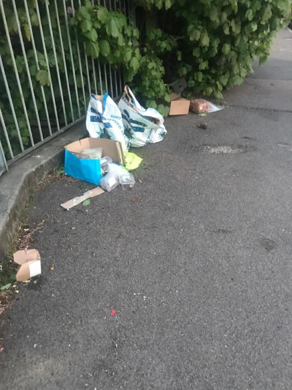 Rubbish on street-30a Bournville Road, London, SE6 4RL