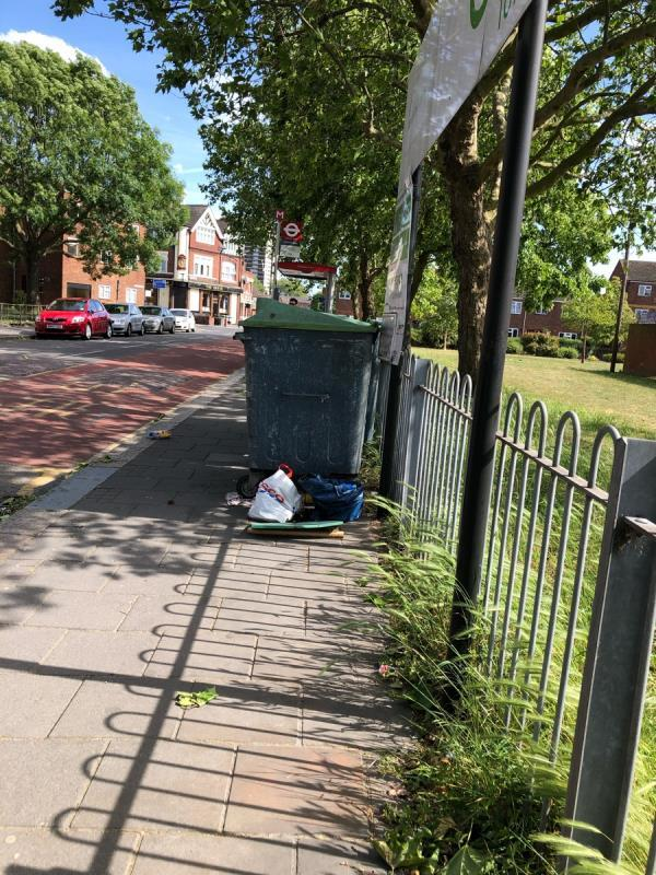 Fly tipping next to Major road recycling point.-72 Major Road, London, E15 1EH