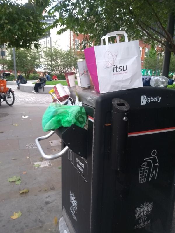 Over load bin , on the Algate square image 1-77 Aldgate High Street, Aldgate, EC3N 1AB