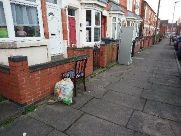 Items dumped at various locations all down the road. Some have been here for months. -41 Ivanhoe St, Leicester LE3 9GX, UK