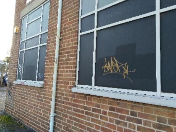 Tagging on chill enterprises window / building - 15 midland st -15 Midland St, Leicester LE1 1TG, UK