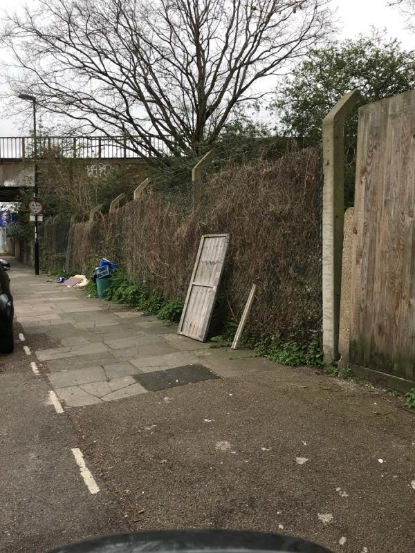 South mobile job remove all fly tipping Fordmill Road near the bridge -25 Fordmill Road, Bellingham, SE6 3JL