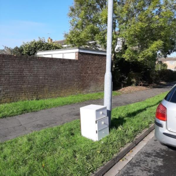 SEESL from NP Zone2 EBC 22nd Oct 11.30am please could you clear the fly tipped set of draws from Hazelwood Ave by lamp post 11.  Thank you-8 Mulberry Close, Eastbourne, BN22 0TU