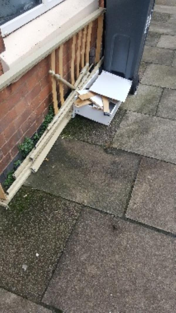 11 warwick st. illegal flytip-13 Warwick St, Leicester LE3 5HT, UK