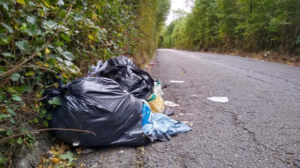Flytip on Horsenden Lane North obstructing carriageway-Wharf House Horsenden Lane North, Greenford, UB6 7PH