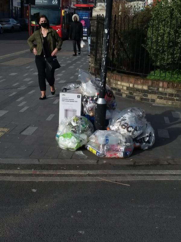 Bin Bags and Litter left at this location-Manbey Grove, London, E15 1EN