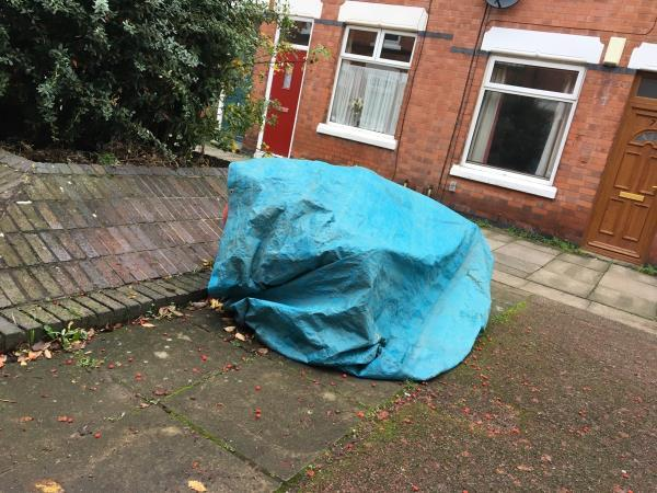 Sofa covered with tarp-72 Montague Road, Leicester, LE2 1TH