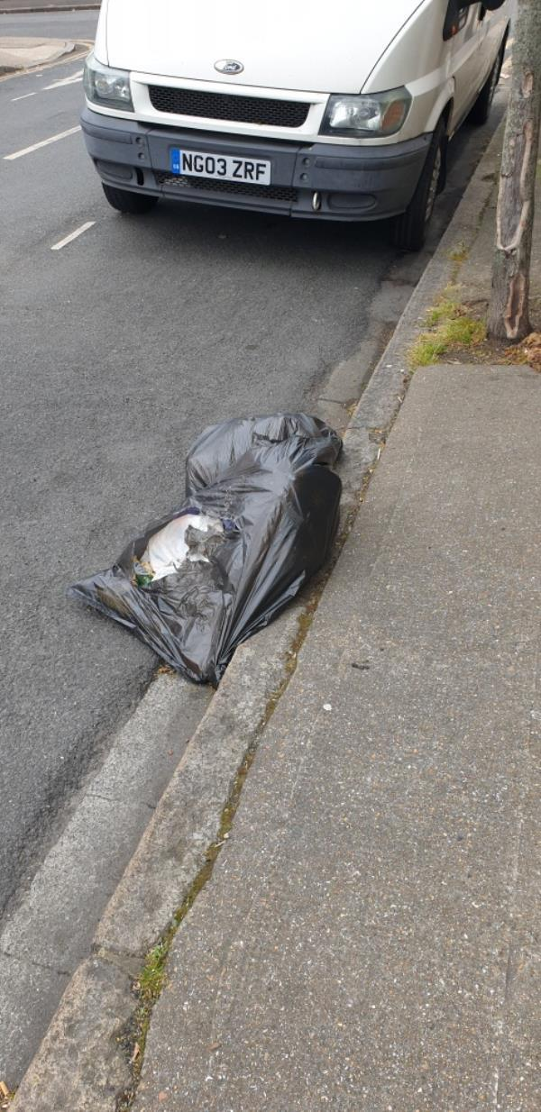 2x bags with domestic waste - no evidence -3 Stondon Walk, East Ham, E6 1LZ