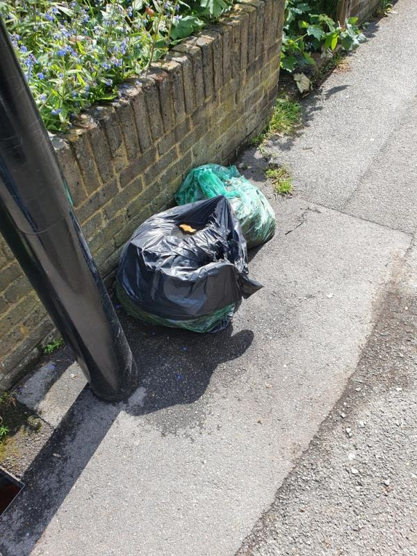 Second time reporting the same rubbish pile infront of this property after a week. It was never collected or actioned by the street cleaners but my previous report was closed as if it was actioned. Please action this time.-22 Fernbrook Road, London, SE13 5NB