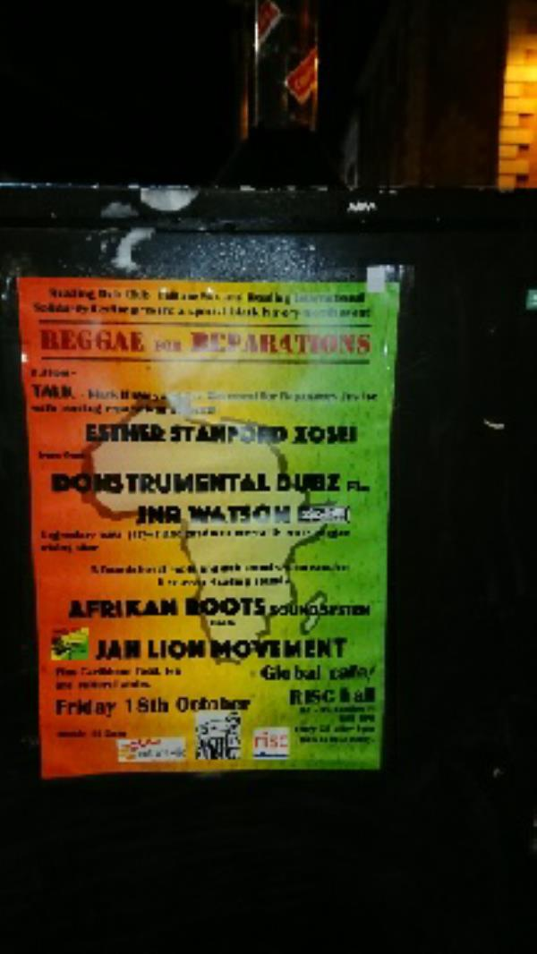 Fly posters all around town -18 Friar Street, Reading, RG1 1DB