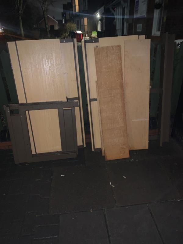 Fly tipping -Helen Webb House, 35 Westleigh Road, Leicester, LE3 0HH