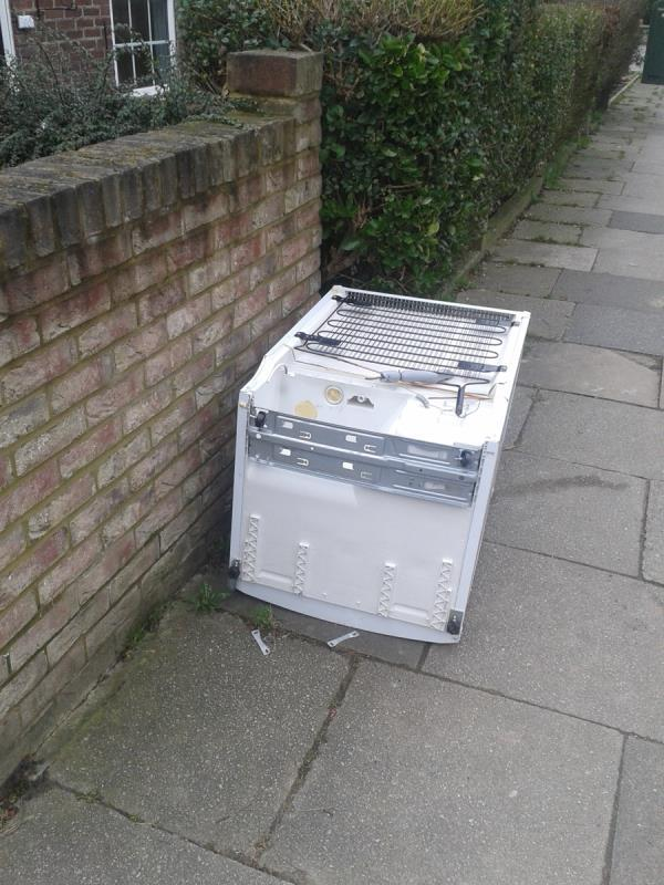 Please clear a fridge outside no 92-90 Downham Way, Bromley, BR1 5NU