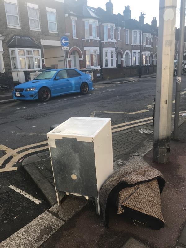 Rubbish dumped outside 74 east road image 1-74 East Road, London, E15 3
