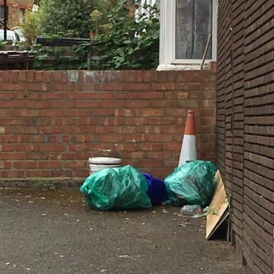 Someone fly tipped again outside our house...this is happening over and over again. Every week now ... might be worth putting up a sign? -58 Bakers Hill, Clapton, London E5 9HL, UK