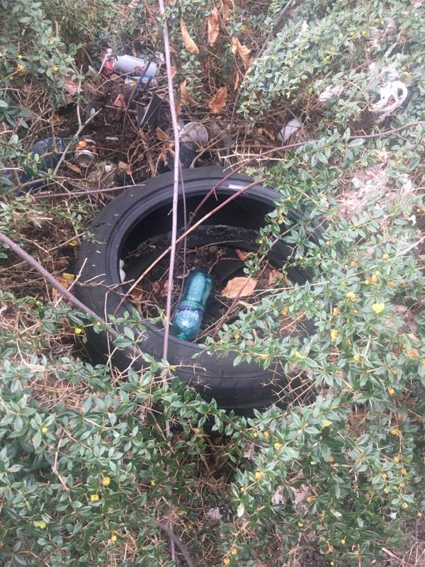 Rubbish dumped at Foundry Place resident parking area image 2-Reading Community College Katesgrove Centre Katesgrove Lane, Reading, RG1 2NL