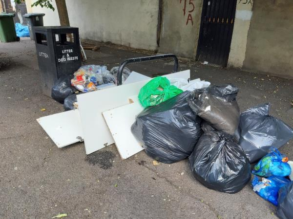 Various rubbish on Wakefield St downside of 73 Katharine Road  image 2-73a Katherine Road, East Ham, E6 1EW
