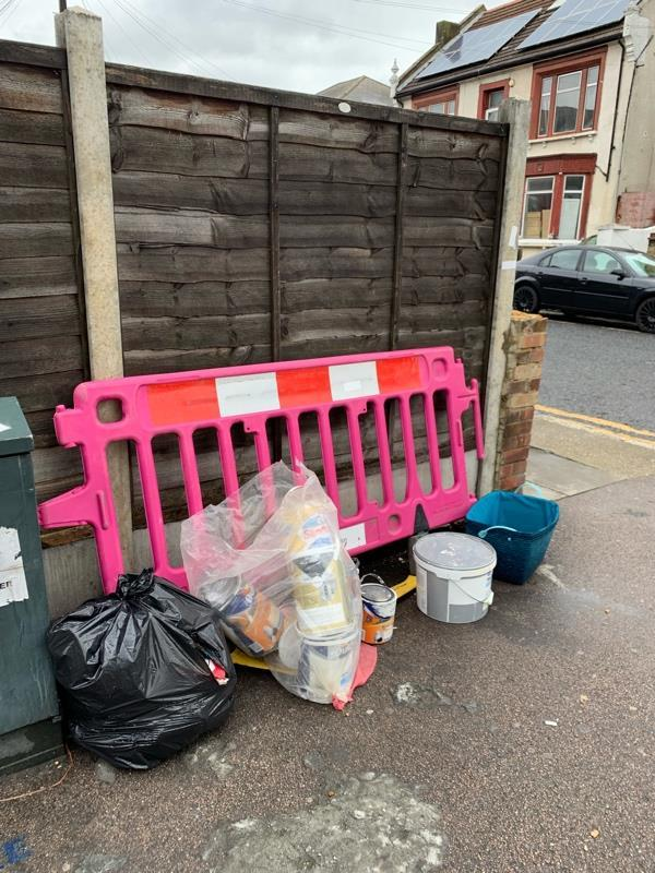 Fly tipping-13 Sprowston Road, London, E7 9AD