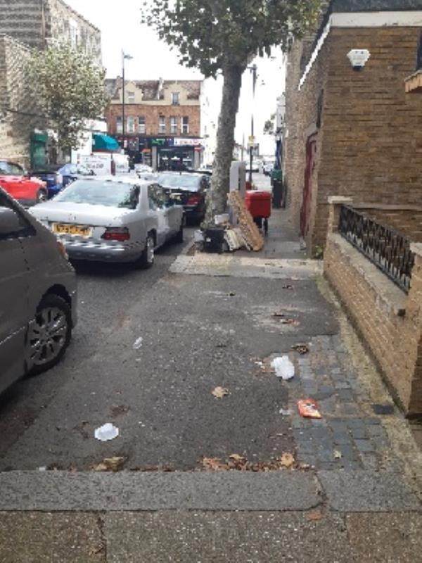 fly tipping -1 Chaucer Road, London, E7 9LZ